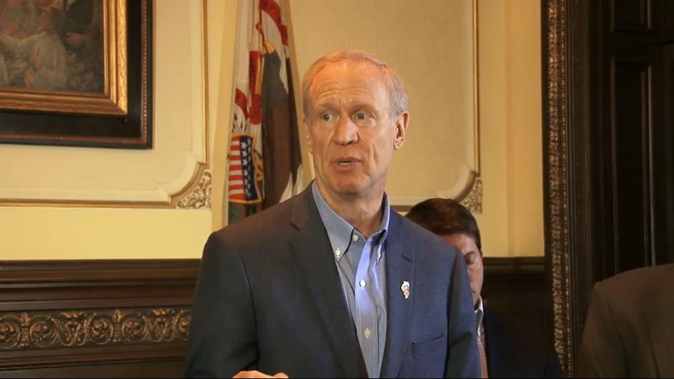Gov Rauner in Capitol
