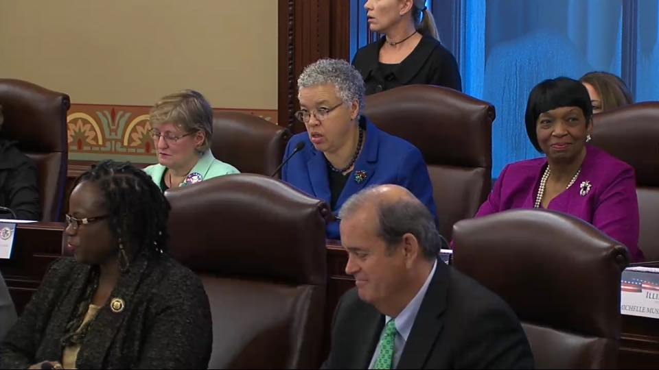 Cook County Board President Toni Preckwinkle chaired the Illinoisi Electoral College vote in 2016